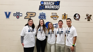 Sport Management Students Volunteer for March Madness