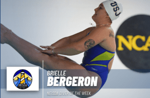 Bergeron Earns NEISDA Diver Of The Week