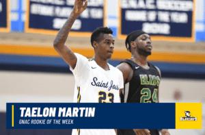 Martin Repeats As GNAC Rookie of the Week Winner